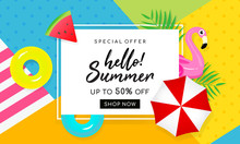 Summer Sale Banner Vector Illu...