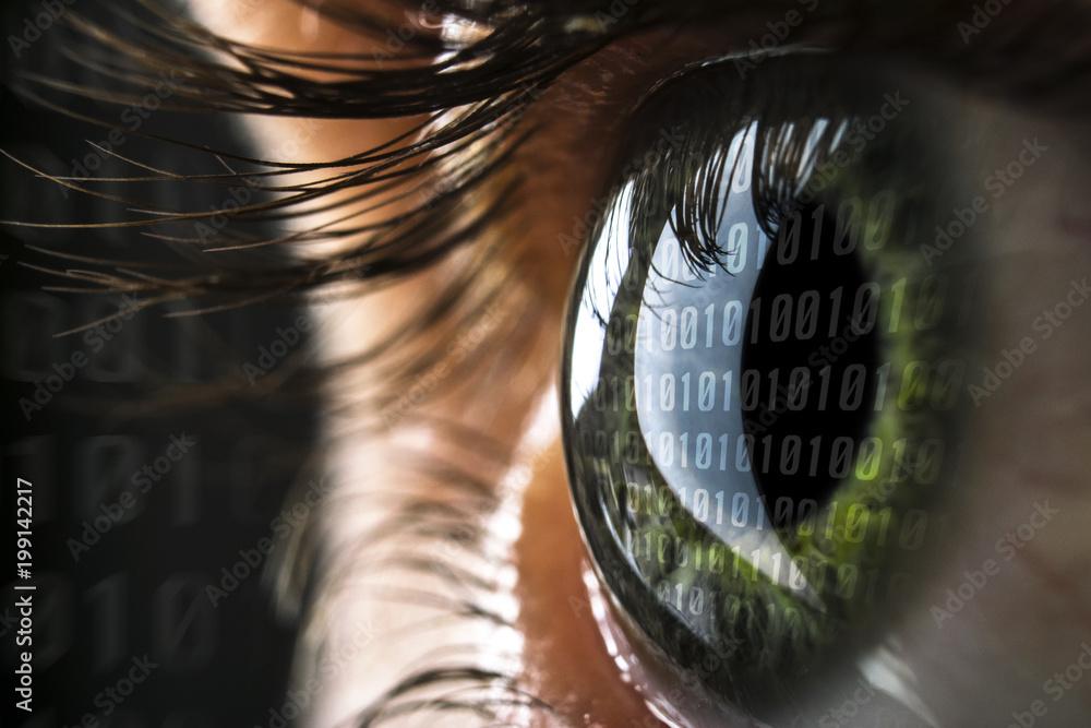 Fototapeta Hacker Auge