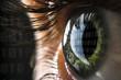 canvas print picture - Hacker Auge