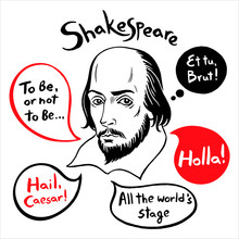 Shakespeare Portrait With Spee...