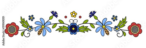 Fotografija  Traditional, modern Polish - Kashubian floral folk decoration vector