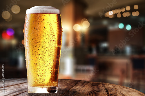 Canvas Print fresh cold beer