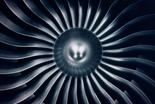 3D Rendering Jet Engine, Close...