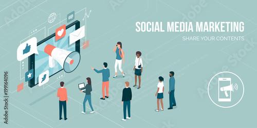 Obraz Social media marketing - fototapety do salonu