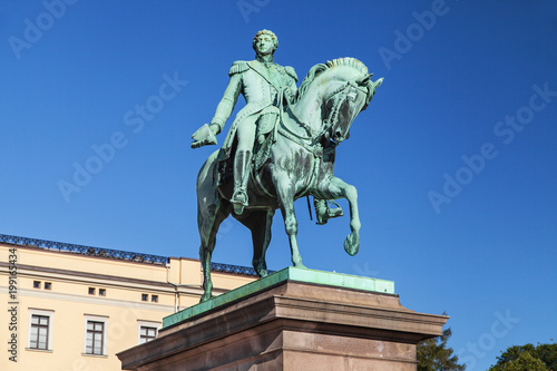 Statue of King Karl Johan in Oslo