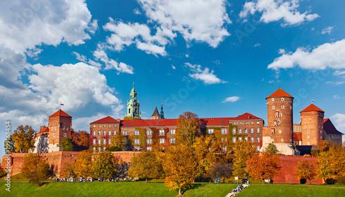 Fototapeta Wawel castle famous landmark in Krakow Poland. Picturesque obraz