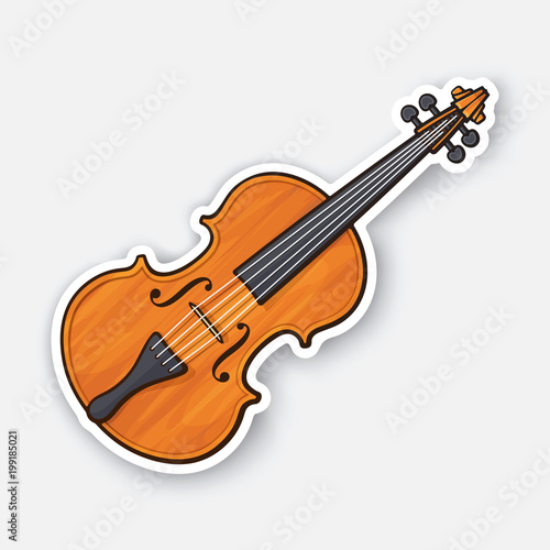 Fotografie, Obraz  Sticker of classic wooden violin without a bow