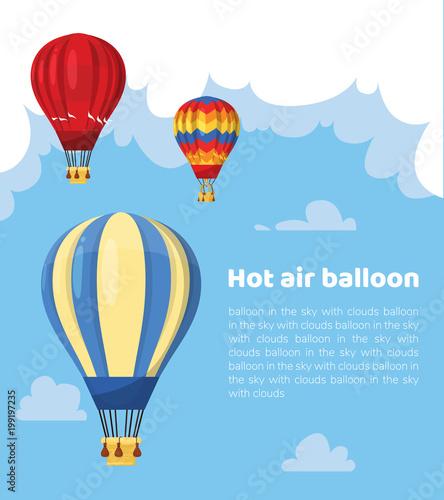 Fotografia Flat hot air balloon