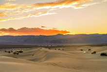 Sunset Sand Dunes - A Colorful...