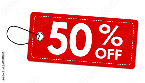 Special offer 50% off label or price tag Wallpaper Mural