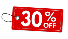 Special Offer 30% Off Label Or Price Tag