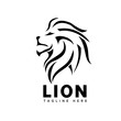 head lion line art logo