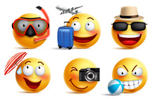 Smileys Vector Set With Summer...