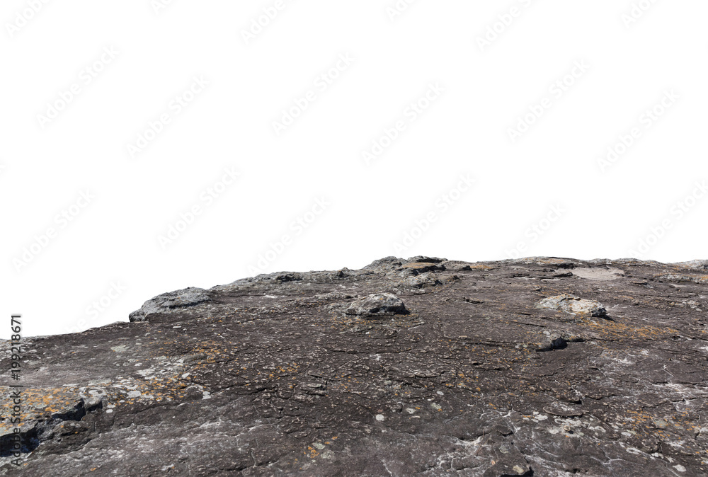 Fototapety, obrazy: Cliff stone isolated on white background.