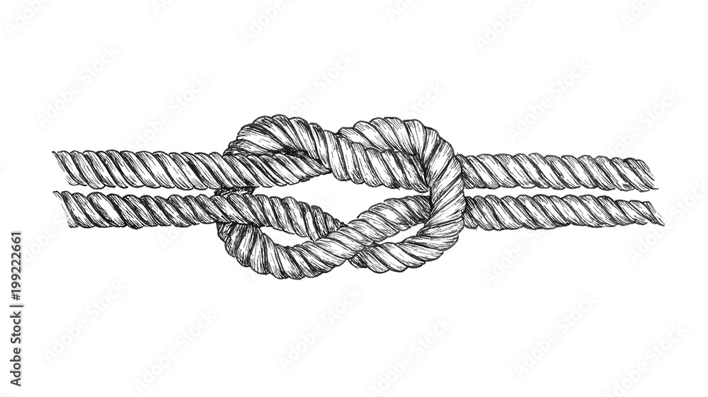 Fototapeta Hand drawn square knot