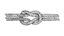 Hand Drawn Square Knot