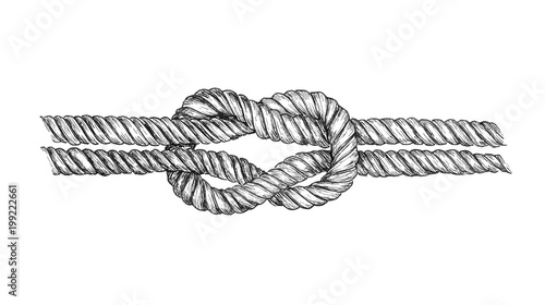 Obraz Hand drawn square knot - fototapety do salonu