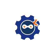 Ninja Gear Logo Icon Design