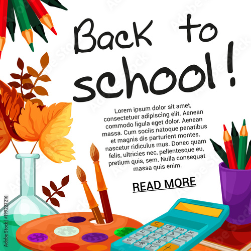 Back to School vector september autumn poster © Vector Tradition