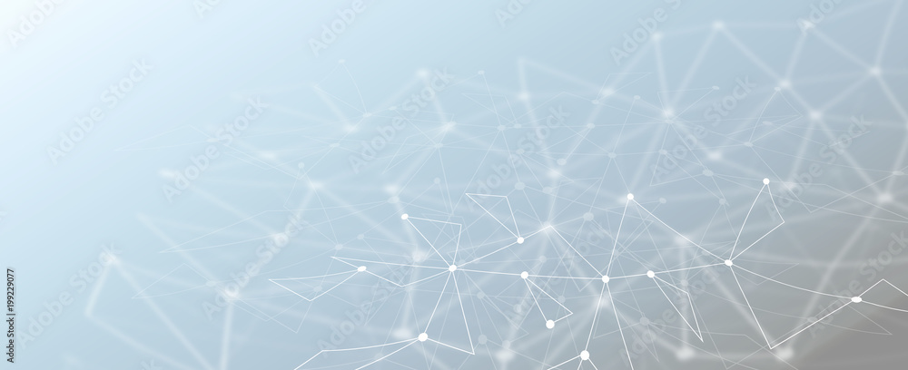 Fototapety, obrazy: Abstract technology geometric polygonal mesh lines background