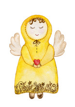 The Angel In A Yellow Dress Wi...