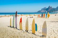Surfboards At Ipanema Beach, R...