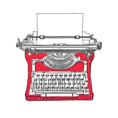 Old style typewriter illust...