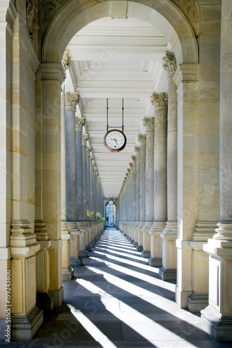 Fototapety, obrazy: Mill colonnade in spa town Karlovy Vary, West Bohemia, Czech republic.