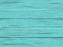 Vector Wooden Background. Old Wooden Green Planks.