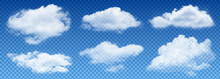 Transparent Isolated Vector Clouds