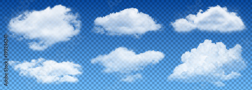 Foto  transparent isolated vector clouds