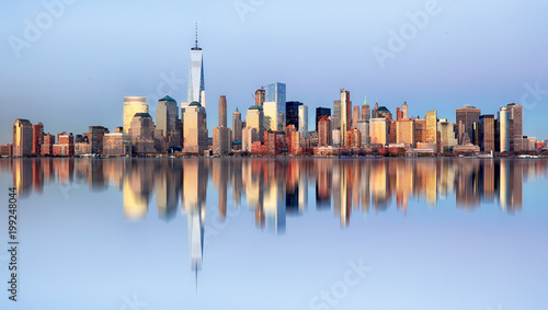 Foto op Canvas New York TAXI Manhattan skyline, New York City at night
