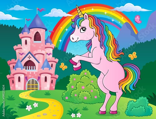 For Kids Standing unicorn theme image 3