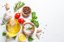 Spices, Herbs And Olive Oil Ov...
