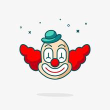 Clown Head Vector Icon. Fun Cu...