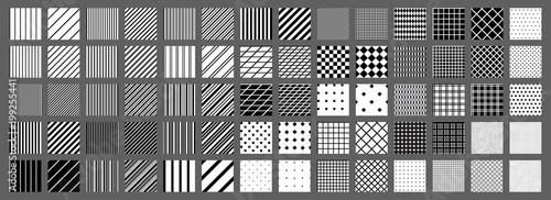 Fotografie, Tablou Big set of 70 seamless abstract patterns