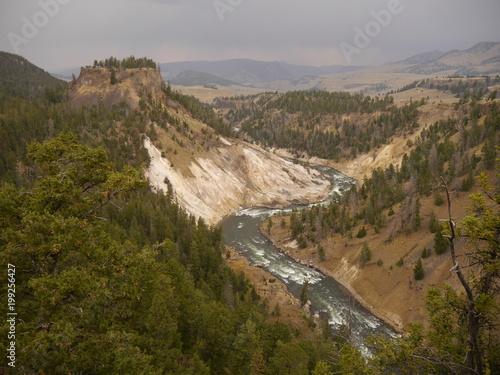 Spoed Fotobehang Chinese Muur Yellowstone Nationalpark USA, Wyoming