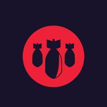 Bombs, Bombardment Vector Icon