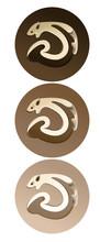 Vector Icons. Animals Marten