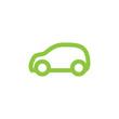 Vector green car.