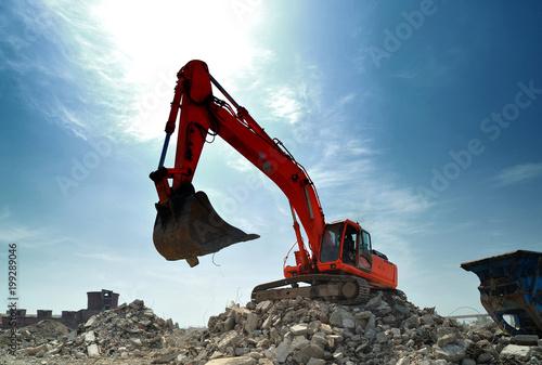 Fototapeta Demolition construction site details