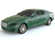 Scaled Green Car Model Jaguar