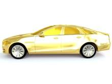 Scaled Gold Car Model Jaguar