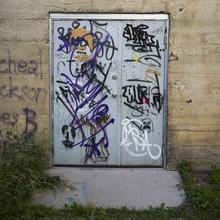 Close-up Of A Graffiti Covered...