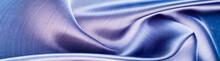 Fabric Silk Texture Of Dark Bl...