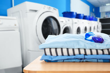 Clean Clothes With Gel Pods At...