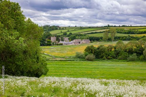 Obraz Summer rural landscape Southern England UK - fototapety do salonu
