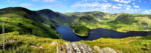 Sunlight over Mardale Head Haweswater Canvas