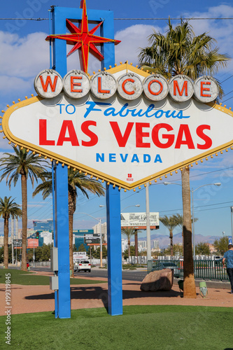 Foto op Aluminium Las Vegas Welcome To Fabulous Las Vegas Nevada road sign