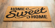Home Sweet Home Welcome Mat On...